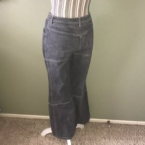 CHANEL Jeans - Chanel grey jeans, wide leg
